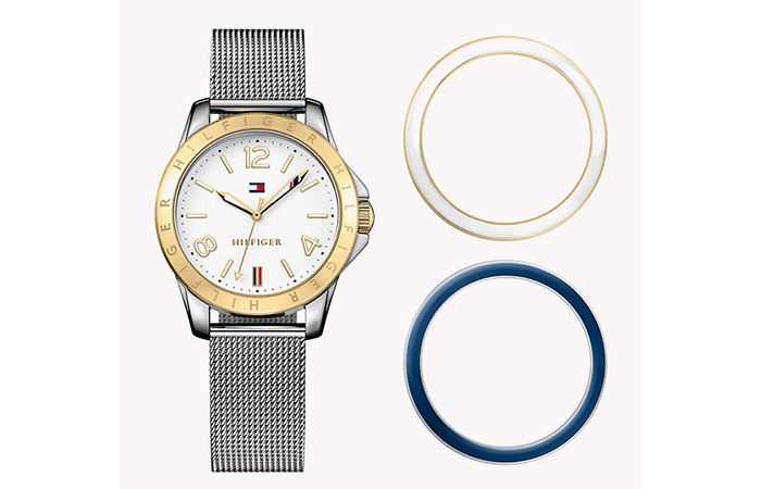 Tommy Hilfiger Watches For Women - 14. Silver Mesh Watch With Interchangeable Dials