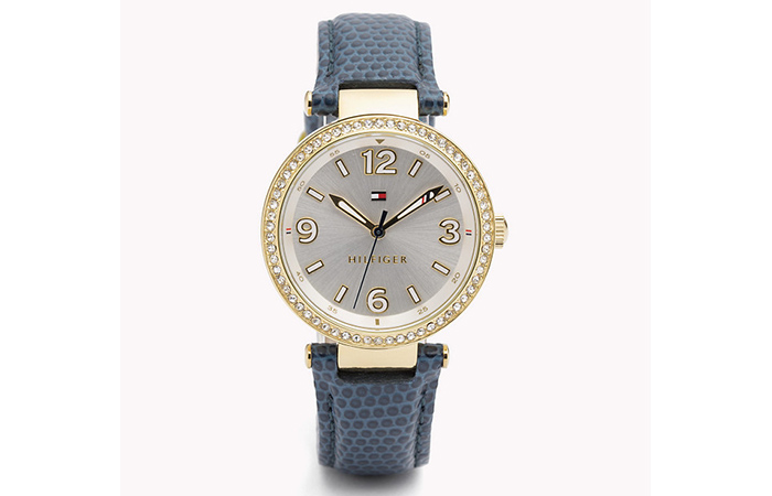 Tommy Hilfiger Watches For Women - 15. Blue Snake Skin Patterned Watch