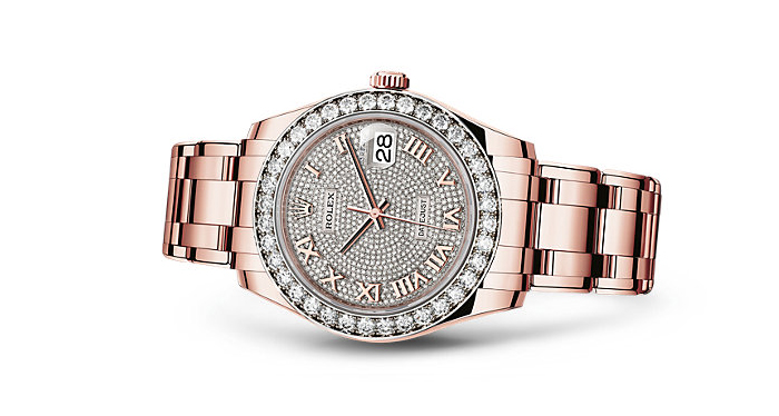 Best Rolex Watches For Women: Pearlmaster 39 - Everose Gold And Diamond Paved Dial
