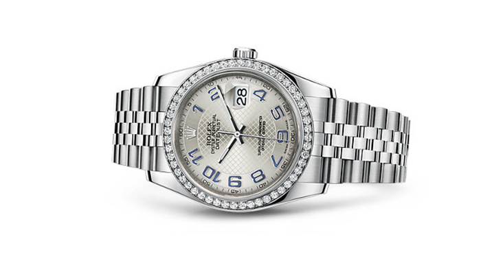 Best Rolex Watches For Women: Datejust 36 - White Rolesor Strap And Silver Dial