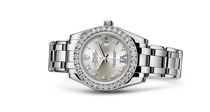 Best Rolex Watches For Women: Pearlmaster 34 - White Gold Strap And Silver Dial