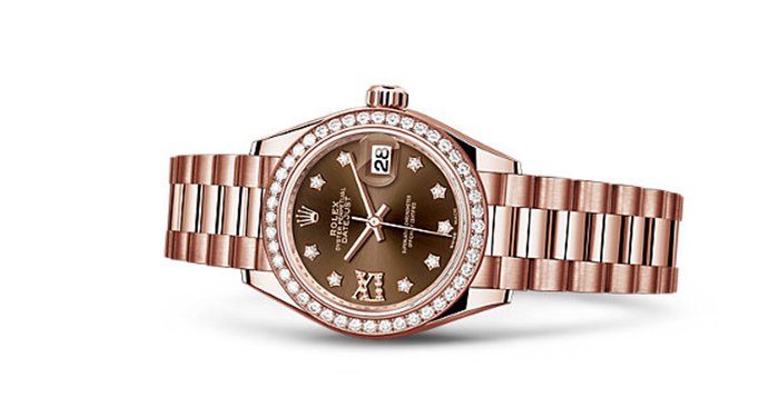 Best Rolex Watches For Women: Lady-Datejust 28 - Everose Gold Strap And Chocolate Dial