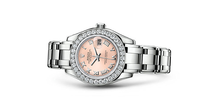 Best Rolex Watches For Women: Pearlmaster 29 - White Gold Strap And Pink Dial