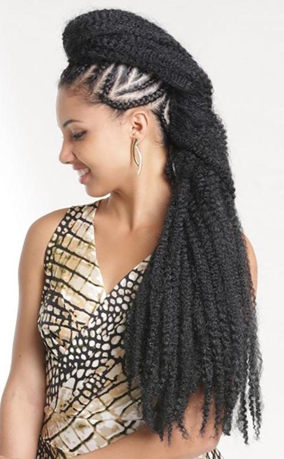 40 Awe Inspiring Ways To Style Your Crochet Braids