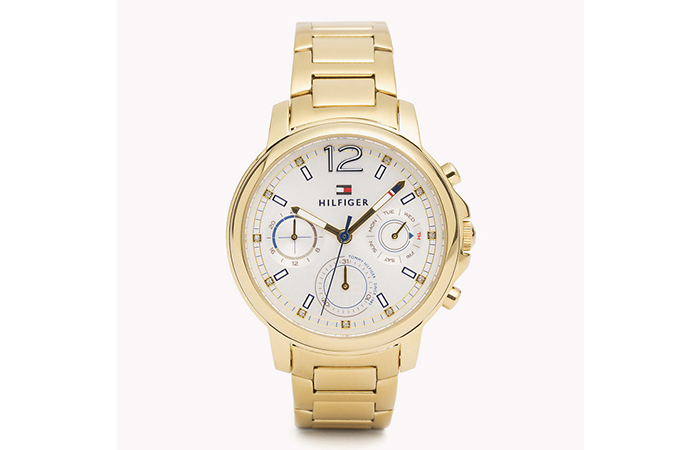 Tommy Hilfiger Watches For Women - 3. Gold Triple Dialed Watch