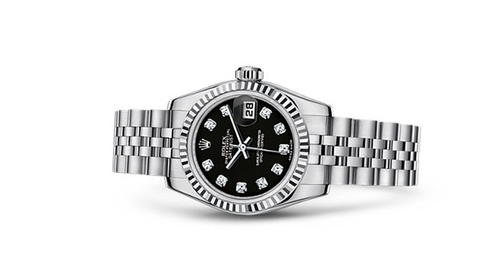 Best Rolex Watches For Women: Lady-Datejust 26 - White Rolesor Strap And Black Dial