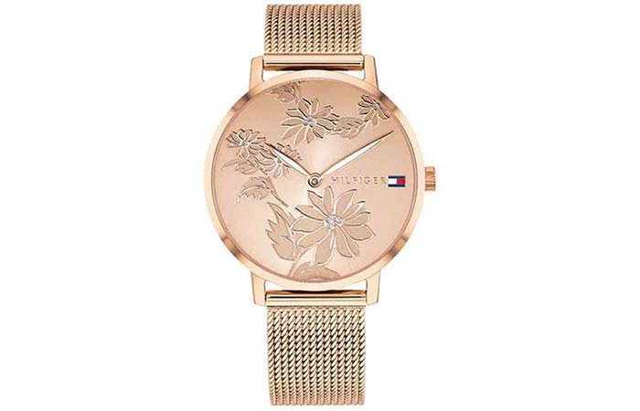 Analog Rose Gold Dial Womens Watch