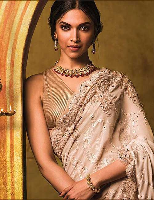 Gold Colored Sleeveless Mesh Blouse For SatinSilk Sarees