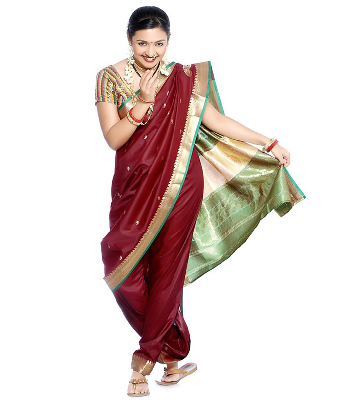 How To Wear Saree - Marathi Style