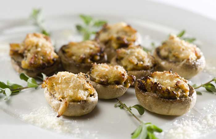 Minced-Turkey-Stuffed-Mushrooms