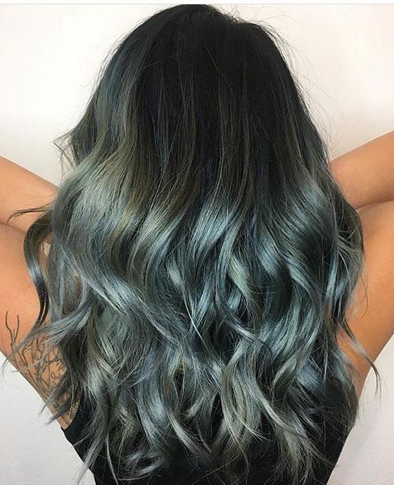Silver-Blue-Balayage