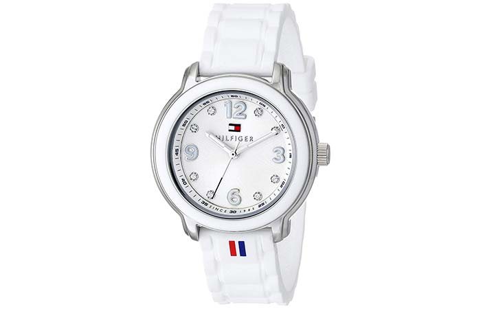 Textured White Watch