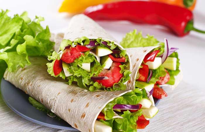 Veggie-Mexican-Wrap