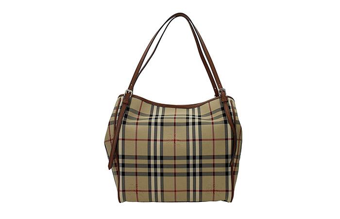 11. Burberry Horseferry Check Tote Bag