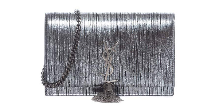 18. Yves Saint Laurent Kate Lamé Lambskin Bag