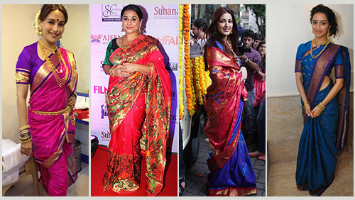 Celebrities In Paithani Sarees