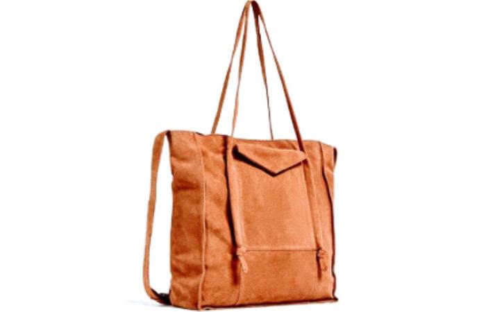 5. Zara Suede Tote Bag
