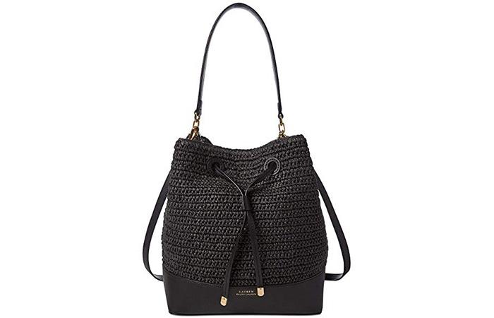 6. Ralph Lauren Dryden Debby Straw Drawstring Bag