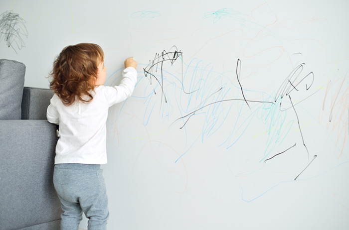 8. Remove Crayon Stains From The Wall.