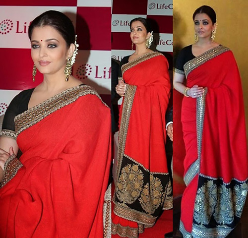 cd0d3ccdb98890 20 Latest Party Wear Sarees With Attractive Blouse Designs For 2019
