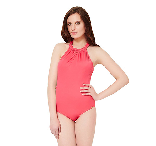 Swimming Costumes For Ladies - 1. Blush Pink One Piece Suit