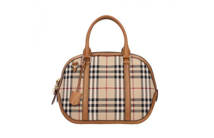 Best Selling Ladies Handbags In India - 13. Burberry Brown Check Satchel