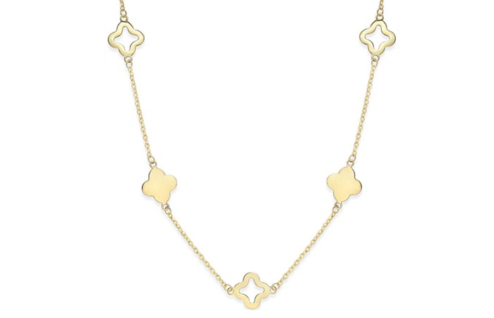 Light Weight Gold Necklace Designs - 17. Clover Necklace