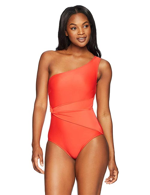 Coastal Blue One-Sided Bikini For Inverted Triangle Body Type
