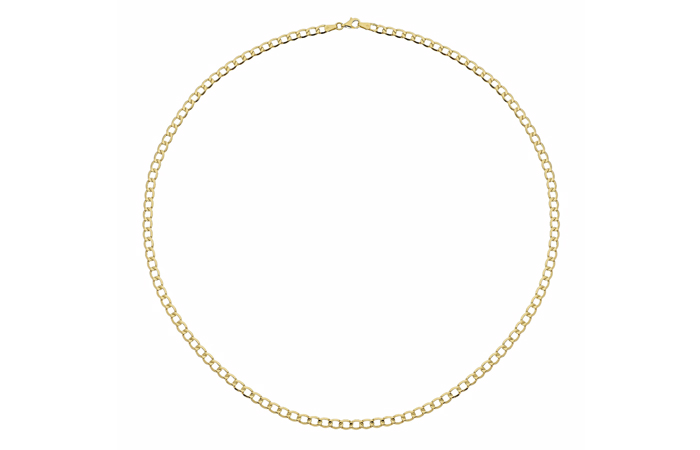 Light Weight Gold Necklace Designs - 3. Curb Chain