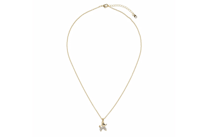 Light Weight Gold Necklace Designs - 8. Diamante Dog Necklace