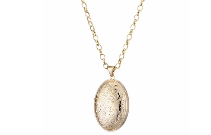 Light Weight Gold Necklace Designs - 5. Dome Locket