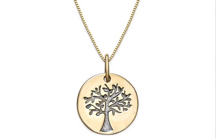 Light Weight Gold Necklace Designs - 18. Family Tree Pendant Necklace