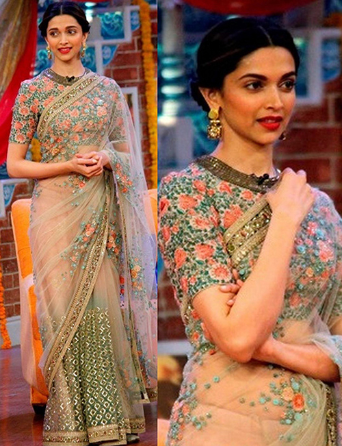 20 Latest Party Wear Sarees With Attractive Blouse Designs