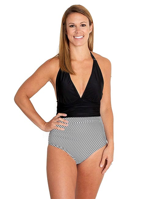High Waisted Halter Neck Swimsuit For All Body Types