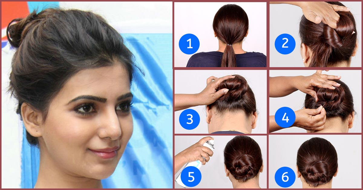 Hairstyle for long hair for party step by step