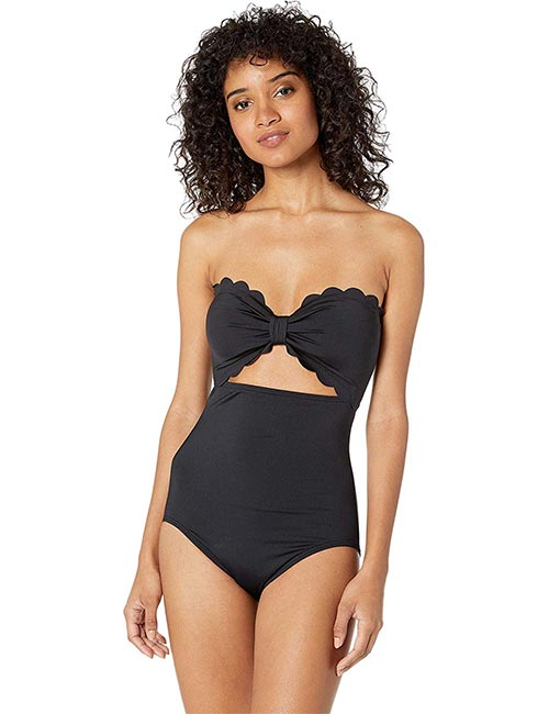 Kate Spade New York Scalloped Cutout Bikini For Apple Body Type