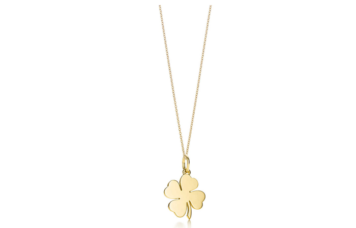 Light Weight Gold Necklace Designs - 2. Lucky Charm Necklace