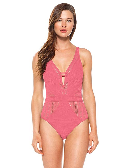 Rebeca Virtue Play Plunge One Piece For Hour Glass Body Type