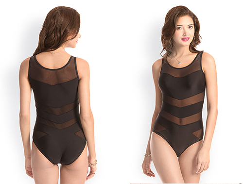 Swimming Costumes For Ladies - 3. Sheer Panel Stretchable Swimsuit