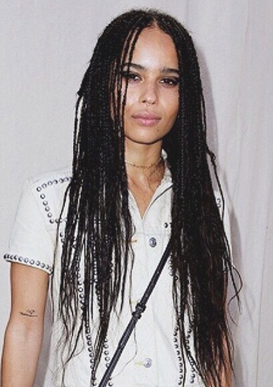 4. Super Long And Center Parted Box Braids