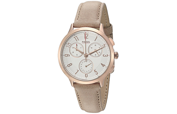 Popular Fossil Watches For Indian Women - 3. Abilene Chronograph Silver Dial Watch