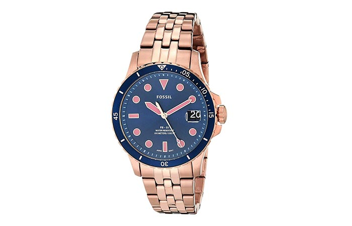 Analog Blue Dial Watch