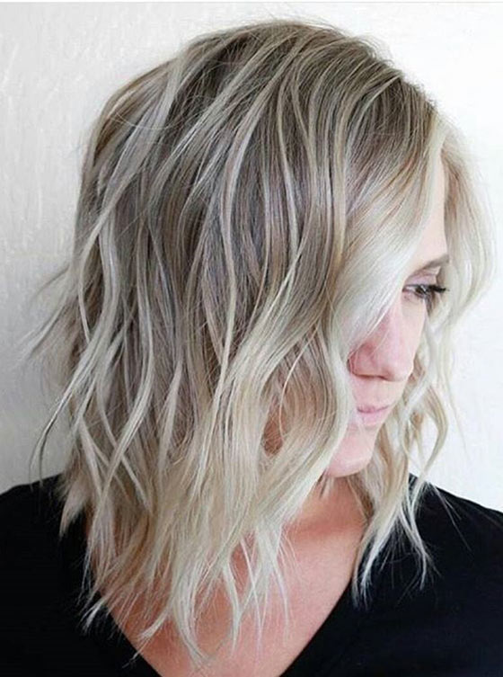 40 ombre hair color and style ideas ashy blonde ombr waves urmus Images