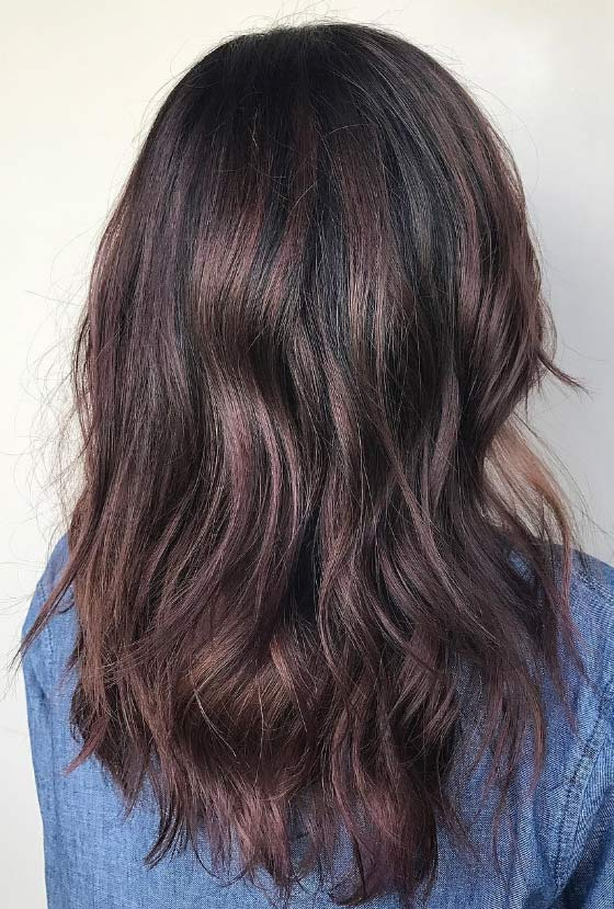 30 chic highlight ideas for your brown hair burgundy highlights pmusecretfo Choice Image