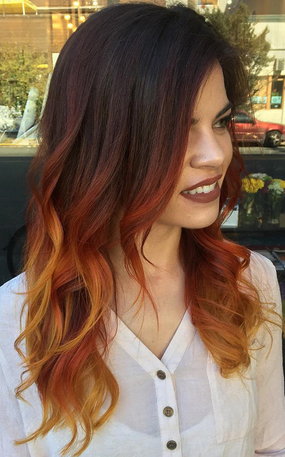 40 ombre hair color and style ideas caramel mocha ombre on layered hair urmus Image collections