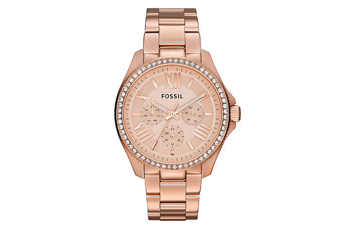 Best Fossil Watches For Indian Women - 19. Chronograph Stainless Steel Case In Rose Gold