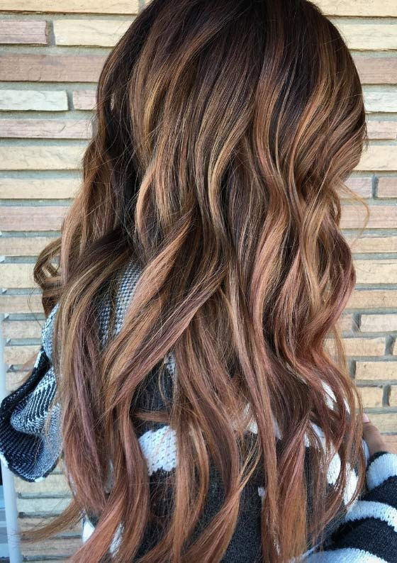 Balayage Hair Color Ideas 1 Dusty Rose
