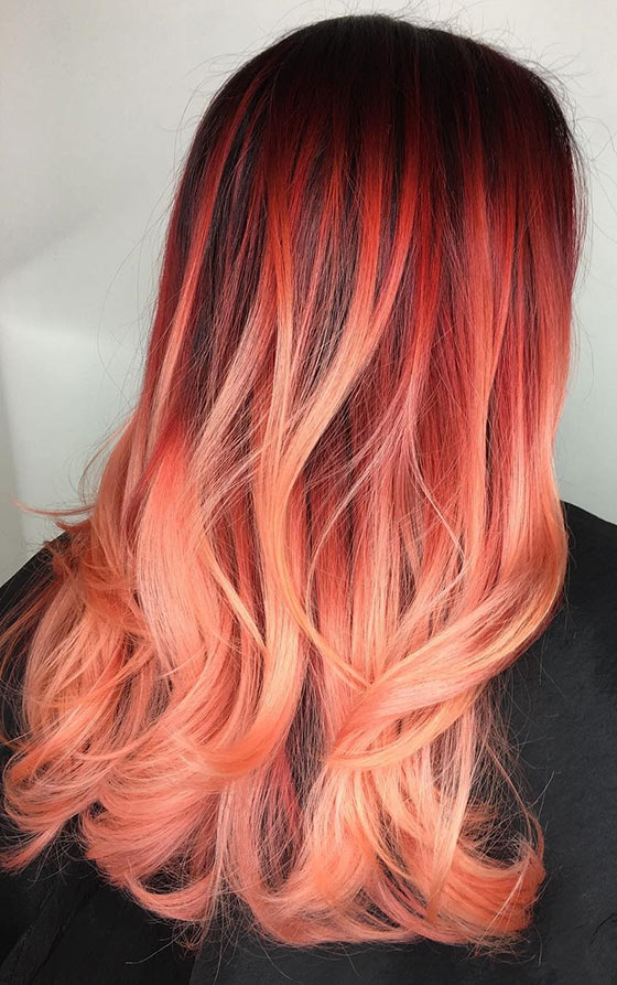 Fiery-Sunset-Ombré-On-Feathered-Ends