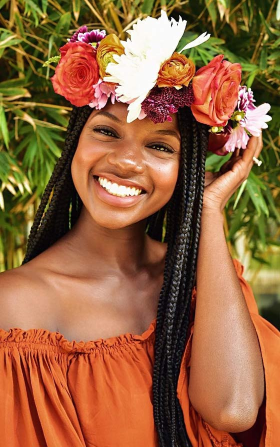 Flower-Crown-Box-Braids