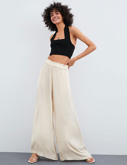 Flowing Palazzos And A Halter Top